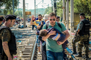 A group of refugees are given authorization to illegally cross over the Greek-Macedonian border to pursue their journey into Europe.