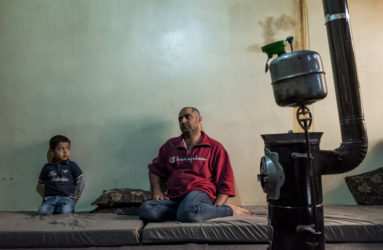 Amer, 37, father of 4, is a refugee from Damascus. He was an ambulance driver, when his vehicle got hit by a RPG in December 2013. He suffered multiple wounds from shrapnels and he took months to recover. He is now working in a falafel shop and has $100 left per month after paying his rent. His children benefit the Non-Formal Education system.